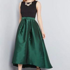 ModCloth Hutch Ariel Midi Hi Low in Emerald NWOT